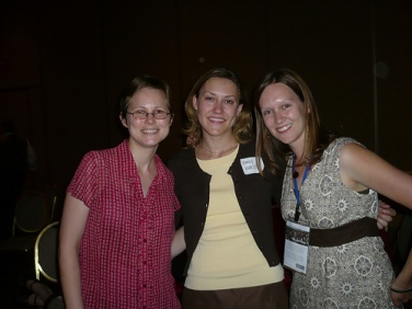 Kim from LOC, Emily from UNC, and myself